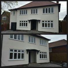 Double glazed windows and doors Nottingham Derby Leicester Window Company, Window Glazing, Upvc Windows, Nottingham, Cladding, Telephone, Bungalow, Beautiful Homes, Porch