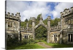 Gothic Entrance Gate to Ballysaggartmore Towers, Lismore, County Waterford, Ireland