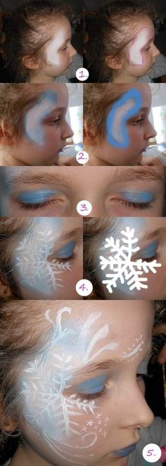 maquillage reine des neiges