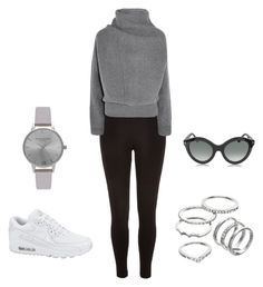 """Grey"" by jewel-mt ❤ liked on Polyvore featuring River Island, Acne Studios, NIKE, Apt. 9, Olivia Burton and Tom Ford"