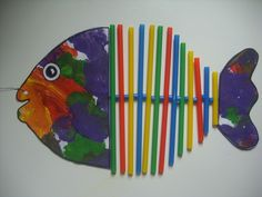 Sea Crafts, Fish Crafts, Summer Camp Crafts, Camping Crafts, Classroom Art Projects, Art Classroom, Kids Art Class, Art For Kids, Drinking Straw Crafts
