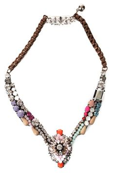 Mixed Jewels Statement Necklace