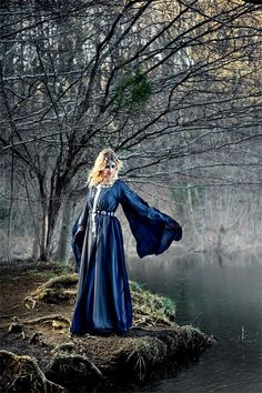 Lady of the Lake by Alassie.  forest maiden, fantasy, medieval