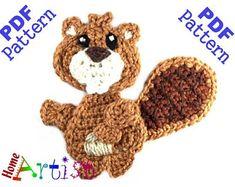 Crochet Pattern Instant PDF Download Deer Crochet Applique | Etsy Crochet Wreath, Crochet Flowers, Crochet Designs, Crochet Patterns, Crochet Appliques, Amigurumi Patterns, Crochet Embellishments, Cute Bat, Cute Squirrel