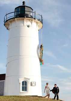 Destination wedding idea: have the wedding at a light house!location: The Nobska Lighthouse, Cape Cod Cape Cod Lighthouses, Fire And Desire, Boat Lights, California Destinations, Cape Cod Wedding, Outdoor Venues, Real Weddings, Destination Weddings, Wedding Venues