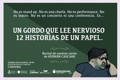 """El viernes 29, el gordo Casciari """"Live"""" en la Plaza Mayor del Cabildo de Córdoba - http://2ba.by/19mfl"""