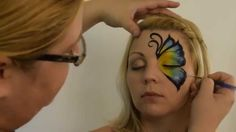 THIS ONE.  YES.  How to Face Paint a Side Butterfly by Mandi Ilene