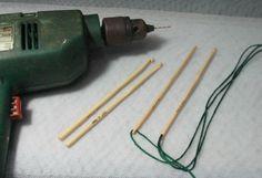 make knooking needles from bamboo crochet hook