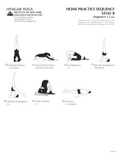 Home Practice Sequence Level II Sequence 1 (cont) | Iyengar Yoga Institute of New York