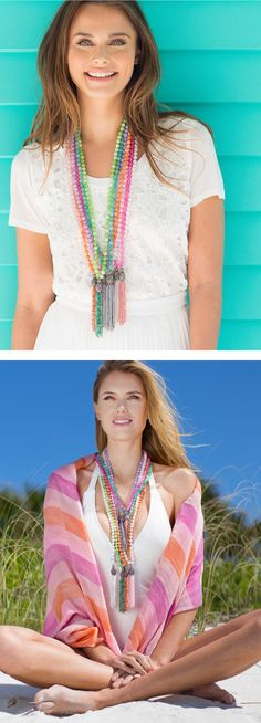 NEW Color Karma Tassel Necklaces - Sparkling, semi-precious, and each with their own way to bring positive energy and a pop of color!
