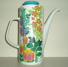 if I could have one last coffee pot for my collection this would be it. Garden Party studio coffee pot by Meakin
