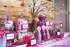 Pink Candy Buffet. This website lets you buy candy by the color!