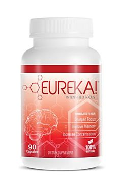 Eureka! Intensified Focus – 90 Capsules, Brain Supplement, Supports and Maintains Memory, Concentration and Focus Boost. Memory Improvement Pills ((All In One Brain Nutrition))