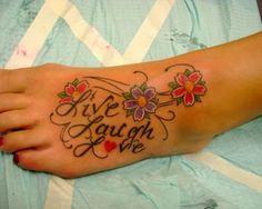 live laugh love tattoos