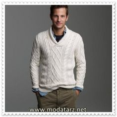 V Yaka Erkek Örgü Kazak Modelleri  - www.modatarz.net -2