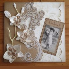 Kaartengalerij - Marianne Design Hand Made Greeting Cards, Making Greeting Cards, Wedding Shower Cards, Wedding Cards, Marianne Design Cards, Cardmaking And Papercraft, Stamping Up Cards, Handmade Birthday Cards, Flower Cards