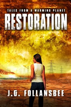The Tales From A Warming Planet series is complete! What do you think of the cover for book four, Restoration? #books #coverart #art #scifi