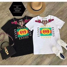 f4f4a4a93b6 Gucci animal embroidery logo Tshirt gucci classic 2017 -  https   pandorafashion.com