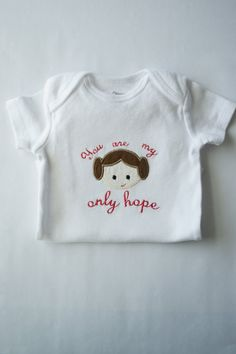 Princess Leia Onesie, Star Wars Inspired Baby, Geeky Baby Gift, Star Wars Baby Clothes