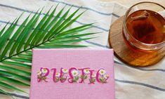 프랑스자수 패키지 캐모마일 레터링자수 캔버스 액자 만들기 : 네이버 블로그 Hand Embroidery