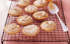 Hertzoggies, a South African classic Coconut Recipes, Sweets Recipes, Brunch Recipes, Baking Recipes, Cookie Recipes, Salted Caramel Cupcakes, Jam Tarts, Sweet Dough, South African Recipes