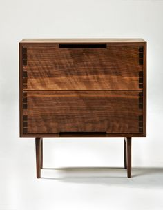 Danish Modern Inspired Walnut Night Stand / Side Table