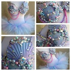 Pastel mermaid rave outfit by Electric Laundry
