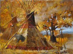 """Autumns Blaze"" 11""x14"" framed original oil - Shades of Winter - Original Oil Paintings by J. Hester"