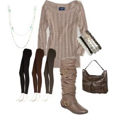 """No nonsense Leggings Outfit"" by mommieswithcents on Polyvore"