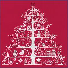 DMC刺しゅうキット(クロスステッチ)クリスマス柄 クリスマスツリー赤布 JPBK557R