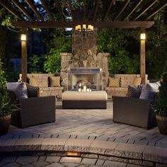Fireplace with Built-In Seating. Some of our greatest memories are made outdoors. It's where we get the chance to unwind and be ourselves. It's where our friends and families love to come together to entertain, play and relax. http://www.andersonsmasonry.com/belgard-backyard.html