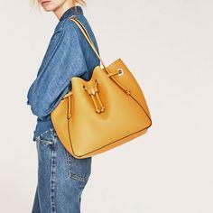 Image 1 of CONVERTIBLE BUCKET BAG from Zara