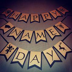 Kid Parties, 30th Birthday Parties, Birthday Cards, Happy Birthday, Happy Name Day, Happy Names, Game Of Thrones Birthday, Game Of Thrones Party, Got Party
