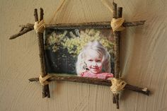 Make a Nature Frame for your fall family photo.  DIY craft with kids. with collection of branches & twigs from nature hike. Quality family time, holiday keepsake & memorable craft.