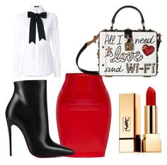 """""""Untitled #330"""" by londonhendrix on Polyvore featuring Dolce&Gabbana, Christian Louboutin and Yves Saint Laurent"""