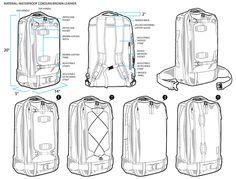 Man's backpack design – sketch by zoey xu, via Behance – Men's style, accessories, mens fashion trends 2020 Diy Backpack, Camera Backpack, Drawing Bag, Bag Illustration, Best Bags, Designer Backpacks, Laptop Bag, Behance, Mens Fashion