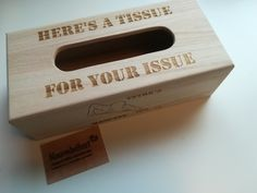 #Tissue #doos #box #graveren, #hout, #kado, #gifts, #naaminhout, #issue, #mancave Bbq Grill, Tissue Boxes, Chilling, Man Cave, Stool, Gifts, Home Decor, Bar Grill, Presents
