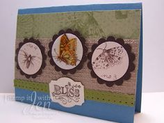 stamp it with Jen: Nature Walk Stamp set from Stampin' Up! Cracked Glass Technique