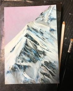 Really love mountains ✨#softpastels