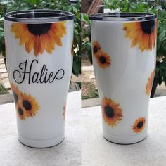 Vinyl Tumblers, Custom Tumblers, Lila Party, Tumblr Cup, Girls Tumbler, Custom Cups, Yeti Cup, Tumbler Designs, Personalized Cups
