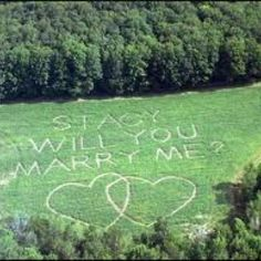 Show her this with a romantic balloon ride, helicopter, or for the adventurous type a sky dive!