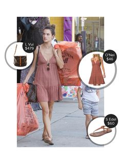 Alessandra Ambrosio Getting Halloween Stuff With Noah - seen in Sam Edelman, O'Neill and carrying Louis Vuitton. #samedelman #louisvuitton #oneill  #alessandraambrosio @mode.ai