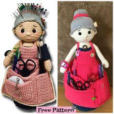 Crochet Crafter Granny Organizer - Free Pattern   #freepattern #crochetpattern