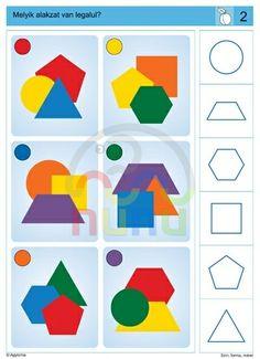 Gross Motor Activities, Preschool Activities, Activities For Kids, Educational Games For Kids, Kids Learning, Visual Perception Activities, Sequencing Cards, Shape Books, Montessori Math