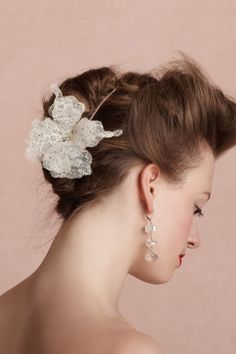 Accessories headpieces Pontia Hairpin,BHLDN Ccile Boccara ,  ccile boccara ,  BHLDN ,  BHLDN ,  A hand, cut Calais lace