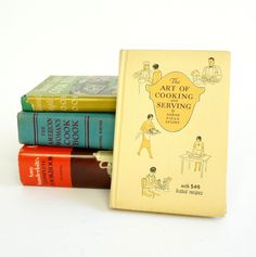 How to be Suzy Homemaker Vintage Style Cookbook Set / American Woman's, Amy Vanderbilt, Fannie Engle by AttysVintage on Etsy