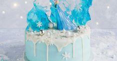 Wer den Film kennt, wird diese Torte lieben! Diese wunderschöne Fondant-Torte mit schönem Drip-Effekt kannst du dank unserer Schritt-für-Schritt-Anleitung jetzt einfach selber machen! Elsa Birthday Cake, Frozen Themed Birthday Party, Birthday Parties, Frozen Party Cake, Party Cakes, Cake Disney, Disney Frozen, Elsa Torte, Elsa Cakes