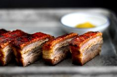 Creme Bruleed Pork Belly Confit | Get In My Belly! 12 Decadent Pork Belly Recipes via Brit + Co.