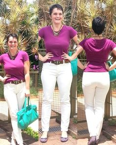 LEILA DINIZ advogada blogueira youtuber: #LookDoDia calça branca e camisetinha básica herin...