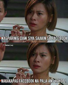 Tagalog Quotes Hugot Funny, Pinoy Quotes, Hugot Quotes, Tagalog Love Quotes, Crazy Funny Memes, Wtf Funny, Funny Jokes, Filipino Memes, Patama Quotes